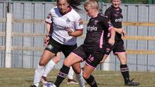 Nicola Sinnott shields the ball from Lucia Lobata of Galway during the home win on Saturday.