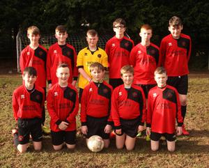 The Camolin Celtic squad before their Under-14 league tie on home soil on Saturday