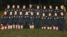 Manager Alan Browne and Brendan Stamp, CEO Guardian Fire and Safety, sponsor, at a presentation of training tops for the Wexford Under-18 inter-league girls' team