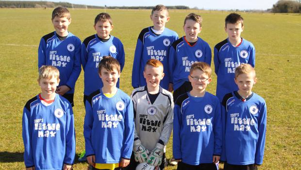 Courtown Hibs, back from left: Sean Hayden, Conor Cronin, Tommy Hannigan, Lee Polglase and Dylan Mc Govern. Front, from left: Jamie Craddock, Andrew Coyne, Eoin Blanchfield, Ronin Kenna and Tomas Woods.