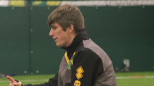 Jason Goodison pictured during a coaching session for juniors in 2017