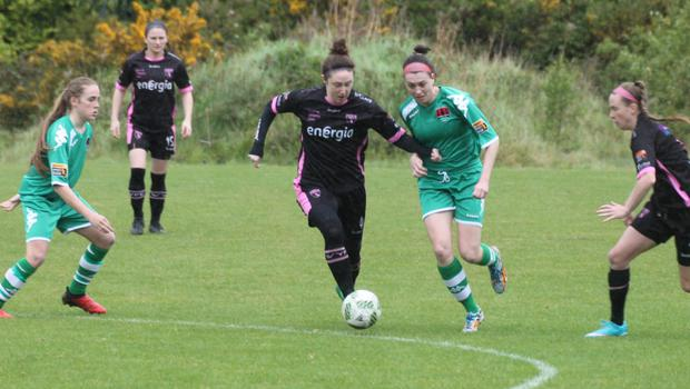Jess Gleeson on the ball for Wexford during Saturday's loss to Cork City in Bishopstown