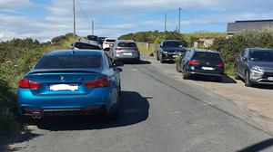 A number of vehicles had to be towed away from Brittas Bay.