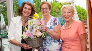 Delia Barry (centre) with Kathleen Kelleher and Anne Doody.