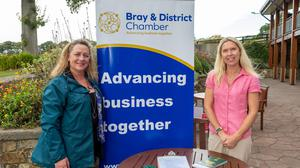 Sarah Finnegan and Kathy O'Toole of Bray Chamber of Commerce at the Bray Chamber Of Commerce Golf Classic.