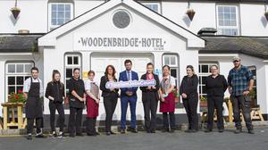 Management and staff members of the Woodenbridge Hotel, Co.Wicklow supporting the Irish Hotels Federation Campaign: #TourismJobsCount