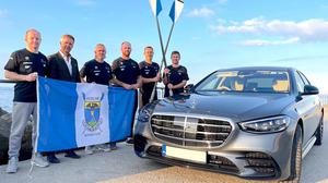 Mercedes-Benz chief executive Paddy Finnegan (second left) with team members Marc Nichols, Shay Dunne, Andrew Breen, Chris Dunne and Peter Doyle.
