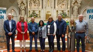 From left: Tom and Maureen Byrne, Daniel and Noelle Redmond, Liz and Colin Byrne, Martina and Ronan Armstrong celebrating their 25th wedding anniversaries.