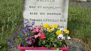 The grave of Dr Thomas J O'Reilly, who was born in Main St Wexford in 1901.