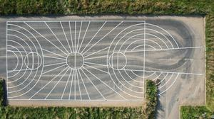 The outline for the 'Colourful Court' at Kynoch Park in Arklow.