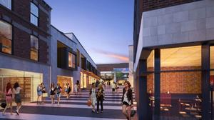 An impression of a completed 'Bray Central'.