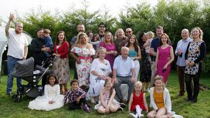 Surprise 50th wedding anniversary for Joss and Angela Mooney of Shankill with their family in Rochestown Taghmon on Saturday afternoon