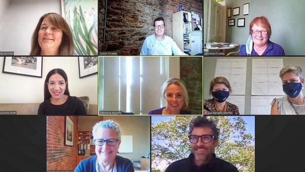 Teams from Purple House and the Dempsey Centre during the online meeting.