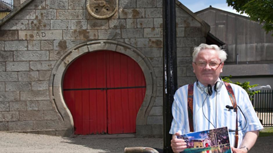 The late Donncha Ó Dúlaing at the Old Forge in Aughrim. Photo; Myles Carroll.