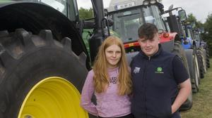 Robyn Murray and Kyle O'Connor at the recent tractor run in Coolboy.