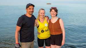 Sameh Sayed, Linda Doolan and Stephanie Burke out and about in Bray.