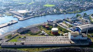 The Arklow Wastewater Treatment Plant will be constructed on the old Wallboard Factory site. Photo; Irish Water
