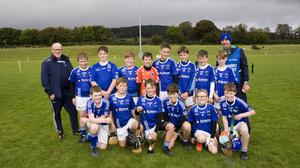The St Patrick's under-11 hurlers who won their Group 1 final against Éire Óg Greystones in Ballinakill.