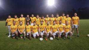 The Dunlavin footballers who defeated Avondale in the Finan Cup final in Rathdrum.