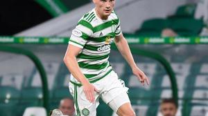 Liam Scales in action for Celtic in Parkhead.