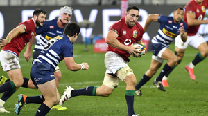 Jack Conan of the Lions on his way to scoring his side's fourth try during their tour match against DHL Stormers. Photo by Ashley Vlotman/Sportsfile