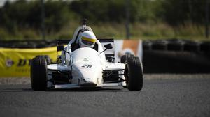 Philip Sheane, Sheane, on his way to second place during round 4 of the Avon Tyres Formula Sheane CHampionship. Mondello Park. Photo: Barry Cregg.