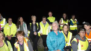 Some of the crowd that took part in the Lacken 5k Night Walk in aid of the Irish Cancer Society.