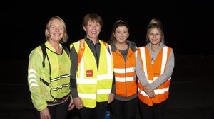 Kathleen, Diana, Ann Marie and Maggie Gallagher taking part in the Lacken 5k Night Walk in aid of the Irish Cancer Society.