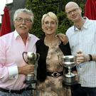 Joe Doyle, Liz Cawley and Ross Paneley, Greystones at the Wicklow Table Tennis prize giving dinner