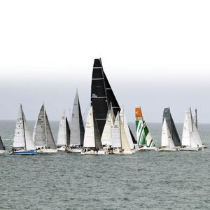 Over sixty boats took part in the Volvo Round Ireland Yacht race off the coast of Wicklow. Picture: Garry O'Neill