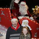 Huw and Anna O'Toole with Santa.