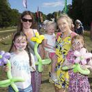 Kayla Carraher, Fiona Carraher, Saoirse Culbert, Mags Culbert and Mia Culbert enjoying the Groove Festival. Picture by Barbara Flynn
