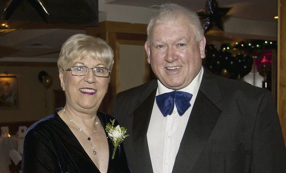 Philomena and Tony Leggett in the Grand Hotel for New Year's Eve