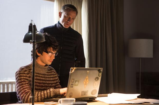 Ben Whishaw and Daniel Craig in Spectre
