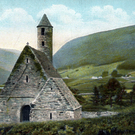 St Kevin's Kitchen in Glendalough on an old postcard