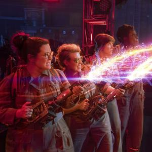 Melissa McCarthy, Kristen Wiig, Kate McKinnon and Leslie Jones star in Ghostbusters