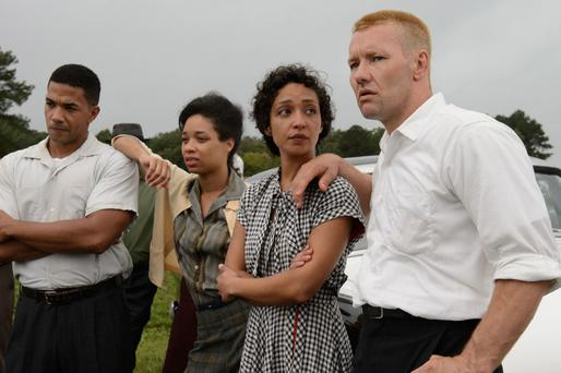 Ruth Negga as Mildred Loving and Joel Edgerton as Richard Loving
