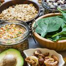 Magnesium is especially abundant in green leafy veg, seaweeds, oily fish, soya beans, avocado, brown whole grain bread, nuts and some seeds