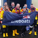 Mary with members of Wexford RNLI last week before heading for home