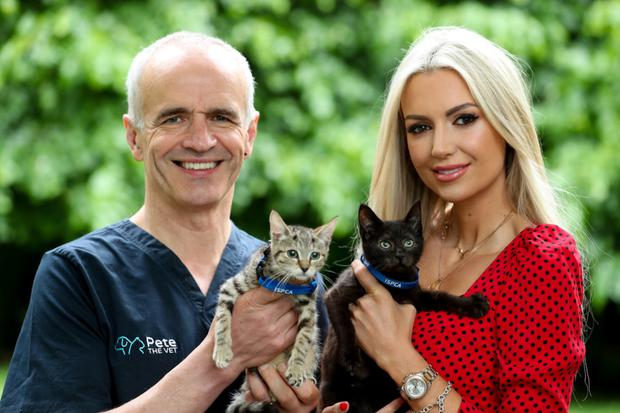 Myself with former Miss World, Rosanna Davison, taken at the launch of the annual Spay Aware campaign