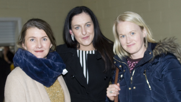 Sarah Hathaway, Vyonne Darcy and Caroline Horan at the Shillelagh Pony Club function in Kiltegan