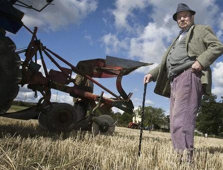 Robert Webster at the Rathdown ploughing championship in Newcastle.