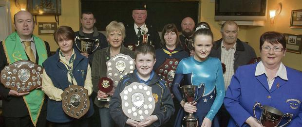 All the prize winners from the Arklow St Patrick's day parade presentation in the Bridge Hotel.