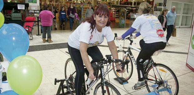 Marian O'Regan who is doing a fundraising cycle to Rome.