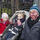 Brian, Sadhbh and Eabha Kulik at the Wicklow Christmas lights turn on at Fitzwilliam Square