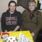 Zoe Seabrook and Vicky Hall at the St Saviour's Christmas bazaar in the Marlborough Hall, Arklow