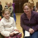 Olivia and Stephanie Cullen at the 50th anniversary of bingo in the RDA Hall, Rathdrum