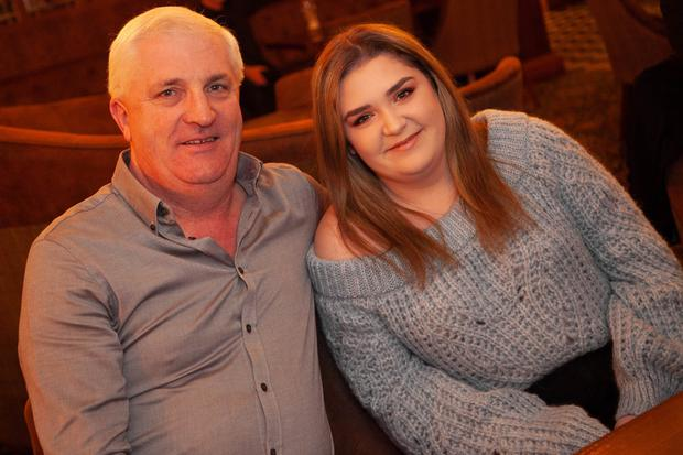 Noel Kenna with his daughter Suzy at the cabaret night in aid of the local senior citizens Christmas party at Glendalough