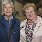 Ann Cripps and Maureen Phibbs at the heritage exhibition in Manor Kilbride Community Centre as part of the Vales Around Cloughlea Festival
