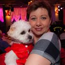 Emma Tagliarino with 'Bonnie' at the Chris de Burgh concert in the Whale Theatre in aid of Greystones Cancer Support